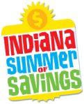 Indiana summer of savings logo